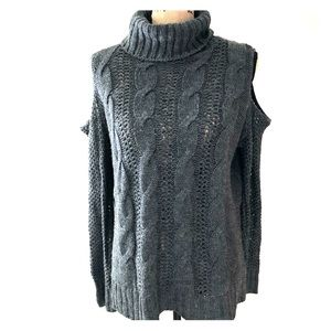 AE gray cold shoulder /  turtle neck sweater